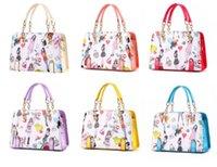 bags holdalls - Hot Elegant Lady Faux Leather Shoulder Handbags Print Holdall Weekend Travel Bag
