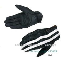 Wholesale Black white stripes New Carbon Motorcycle Racing Gloves Style Male Motorbike Bike Glove