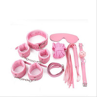 Wholesale Fetish Leather Handcuffs Nipple Clamps Adult Sex Toys for Couples BDSM Bondage Restraint Set SM Sex Products Slave Games