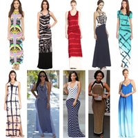 bell beach - 2016 Summer dress Big yards ice silk in Europe and the printed vest dress beach dress