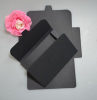Wholesale Black kraft card envelope bags paper photo album packaging envelope