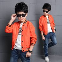 Wholesale Children Jacket Boy Coat Black Orange Boys Jacket And Coats Autumn Jackets For Boys Outerwear Kids Boy Clothes