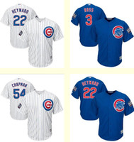 aroldis chapman - Men s Chicago Cubs David Ross Aroldis Chapman Jason Heyward White Blue World Series jersey Top Cool Base Baseball jerseys