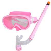 Wholesale New Arrival PVC Swimming Scuba Anti Fog Goggles Mask Snorkel Set Diving glasses ZD084C