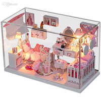 Wholesale DIY Doll House With Furniture Handmade Wooden House diy Birthday Gifts D Puzzles For Adults Lovers and Childrens Dream House
