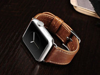 apple watchband - New WatchBand For Apple Watch Strap Split Genuine Leather Wrist Band Strap For apple watch mm mm with Adapter Connector