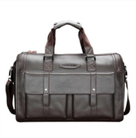 Wholesale FEGER Brand Dark Brown Genuine Leather Handbag Super Large Capacity Men s Business Travel Duffle Bag