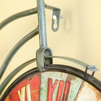 bicycle wall clock - Clock retro iron bicycle watch cafe wall mural character bedroom wall decoration Pendant