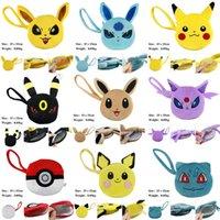 Wholesale 9 Styles pokémon Pikachu wallet bags kids Purse Children cartoon the elves ball Pikachu Jeni turtle Sylveon Keychain wallet Purse free ship