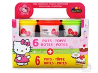 Wholesale 12 Colors Play Doh Hello Kitty Mixing DIY Polymer Clay intelligent Plasticine Children Educational Toys Color Box
