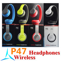Wholesale P47 Bluetooth Headphone Wireless EDR Headband Earphone Folding With MF TF for MP3 Apple Samsung S7 LG Mobile Phone