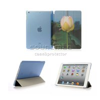 apple drawing tablet - Tablet Case For iPad air mini High Quality Colored drawing PU Tablet Siamese Stand Flip Case