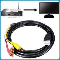 1.5M 5Ft HDMI-Mâle à 3 RCA Vidéo Audio Converter AV Câble adaptateur pour la livraison gratuite HDTV DHL