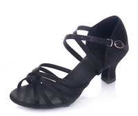 ballroom dancing practice shoes - Women Latin shoes GB adult black dance shoes practice shoes soft bottom in the rough with Size