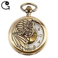 antique russian watches - GR New Russian Bronze Vine Big Round Golden Face Roman Fashion Quartz Pocket Watch Fob Watch