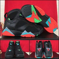 barcelona sales - With shoes Box NEW Retro VII Barcelona Nights Remastered Marvin The Martian Hot Sale Men Shoes