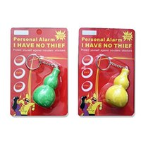 Wholesale Girl self defense alarm apparatus Easy pull clasp gourd alarm chain Against the Wolf Coyotes key chain FC
