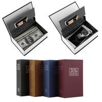 Wholesale New Arrival Hot Steel Simulation Dictionary Secret Book Safe Money Box Case Money Jewelry Storage Box Security Key Lock