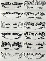 artistic faces - New Mixed Style Face Lace Eye Shadow Sticker Eye Makeup Artistic Eye Mask Club Party Cosmetics Face Mask Eye Temporary Tattoos