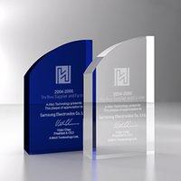 crystal glass award - crystal glass awards trophies