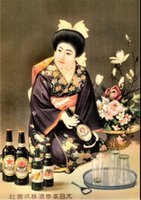 advertising figures - Japanese Advertising circa Pure Hand painted Figure Art oil painting On Canvas MUSEUM QUALITY in any size customized