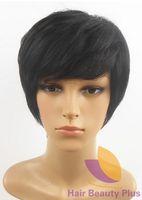 Wholesale Cheap Fashion H Hair Machine Made Hu man Hair Wig for African American HH2013