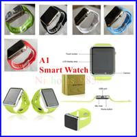 Meilleur A1 Smartwatch Bluetooth Smart Watch pour iPhone IOS Samsung Android Smart-phone Podomètre Surveillance de sommeil VS U8 DZ09 GT08 GV08S GT88