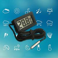 Wholesale New Mini Aquarium LCD Display Digital Thermometer Fish Tank Water Household Refrigerstor Thermometers LDD131