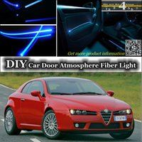 alfa romeo brera - Tuning Atmosphere Fiber Optic Band Lights For Alfa Romeo Brera Spider AR Door Panel illumination Refit interior Ambient Light