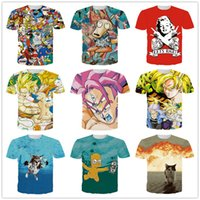 Wholesale Foreign short sleeved t shirt lovers summer men s D animation teenagers thin space cotton influx of men in Europe and America