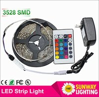 adapter decorations - LED Strips M Set SMD led LED Strip Light Waterproof Keys IR Remote Controller Power supply Adapter White Red RGB LED strips light
