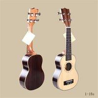 best acoustic panels - 21 inch Sapelli Ukulele Guitar Best Quality Soprano Fully Closed Sapele Panel Hawaii Four String Acoustic Guitar Ukulele