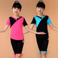 Wholesale High quality Latin Dance Clothing Girls Summer Dance Skirt Children s Clothes and children performing wear short sleeved NEW Real Hot