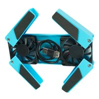 Wholesale Hot sale Portable USB Folding Fan Laptop Notebook Desk Stand Cooling Cooler Pad