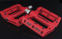 Wholesale Mountain Bicycle Pedals Nylon Fiber Ultralight g Big Foot Road Bike Bearing Pedals Colors size mm