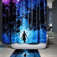Wholesale New Fashion Pure Polyester Waterproof Shower Curtains Cartoon Forest Girl Print Bathroom Curtain Home Decoration Cortina Banheiro