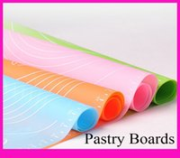 cake boards - 50x40cm Silicone Cake Baking Dough Pastry Fondant Rolling Cutting Mat Baking Pad pastry boards cookie decorating tools