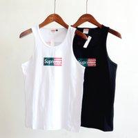 american street wear - Fashion Men American Flag Vest Black White Sleeveless Funny T Shirt Street Punk Wear Cotton Singlet Sportwear BJF0716
