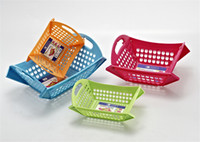 Wholesale Cheap Colorful Foldable Draining Basket Kitchen Vegetable Fruit Water Dripping Storage Basket Square Rectangle Size L