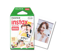 Wholesale 20pcs FUJIFILM Instant FUJI Instax Mini Films White Edge Photo Papers for mini7s mini8 mini90 mini25 s Polaroid s Share SP film