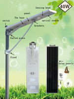 Wholesale IP65 W W Outdoor LED All in One Integrated Solar Street Light New Integrated High Lumen Led Solar Street Light