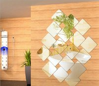 acrylic sports surfaces - Square cm Wall Decoration Acrylic Mirrored Decorative Sticker Room Decoration DIY Wall Art Home Decor