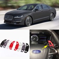 Wholesale 2pcs Brand New High Quality Alloy Add On Steering Wheel Paddle Shifters Extension For Lincoln MKZ