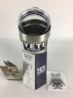 Wholesale 100 Clear Lid oz In Stock Quantity Rambler Tumbler Oz Yeti Cars Beer Mug Large Capacity Mug Tumblerful ml Yeti Cups