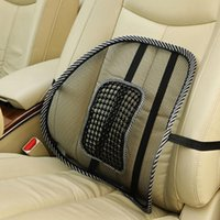 Wholesale Black mesh lumbar back brace support Massage cushion Pad for office home car seat chair HA10648