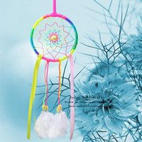 Wholesale 2016 New Fashion Gift India Rainbow Dreamcatcher Wind Chimes Indian Style Feather Pendant Dream Catcher Regalo