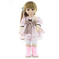 beautiful bebe - Big Eyes cm BJD Dolls with Beautiful Doll Clothes American Girl Dolls Reborn Bebe de Silicone Adora Doll Joint Kids Play Toys