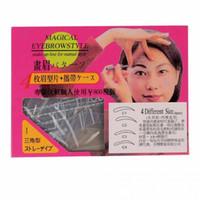 Wholesale 1set Designs Thrush card Eyebrow Style Kit Shaping Mold DIY Beauty Eyebrow Template Make Up Tool OJ