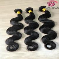 Wholesale 8A Best brazilian body wave virgin hair weave peruvian indian virgin remy human hair weft extensions DHL