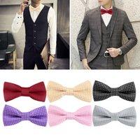 Wholesale Men Polka Dot Bow Tie Luxury Adjustable Adults Bowties Dickie Pre Tied